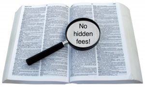 Transparency means no hidden fees image